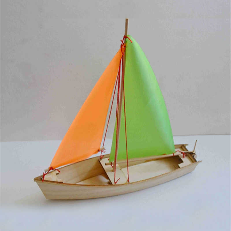 Free shipping DIY Sailboat Model  Toys Wooden material Laser Engraving Process Creative Handmade Toys Model ship Educational Toy