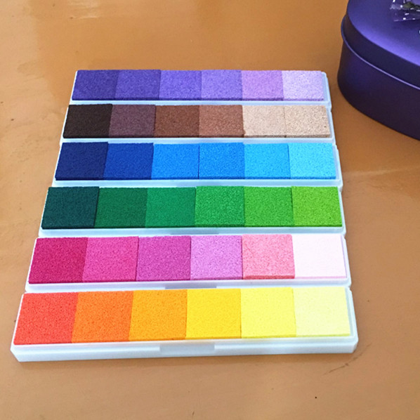 6colors/set Long Inkpad Craft Oil Based Diy Ink Pads For Rubber Stamps Scrapbook Fingerprint Stamp Pad Kids Art Supply