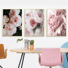 Flower Canvas Painting Flowers Wall Art Pictures Art Print Poster Plant Pictures For The Livingroom Peony Painting Unframed my43 xdzs 22 23 2pcs chinese bird plant flowers print art