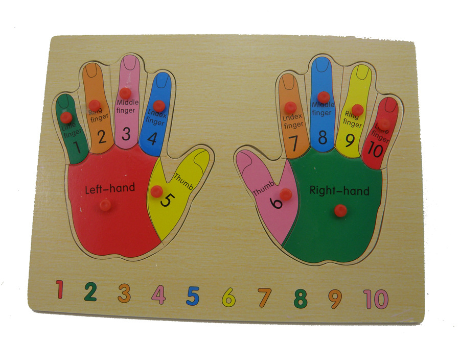 2015 Real Wooden Toys Fingure Puzzle Wood Learning