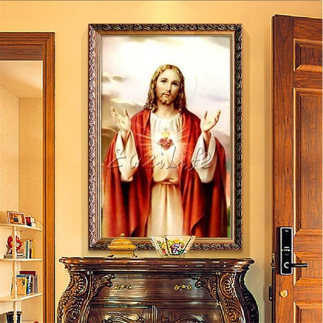 Ica Home Decor: Home Decor Jesus Christ Painting Sacred Heart Of Jesus
