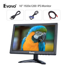 "EYOYO 10"" 1920×1200 Display Video Audio HDMl IPS Monitor 180degree w/ Speaker Lightweight For CCTV DVD PC Laptop DVR CCD Camera"