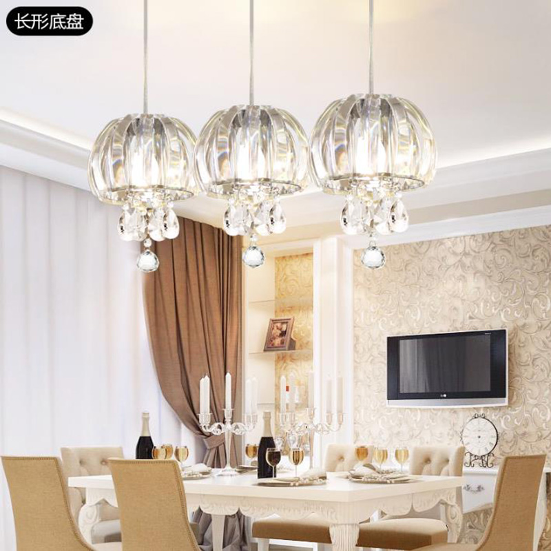 Dinning room Crystal Pendant Light bedroom creative glass hanging lamp Bar Restaurant study room aisle LED Crystal Pendant Light light the mediterranean restaurant in front of the hotel cafe bar small aisle entrance hall creative pendant light df57