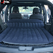 JHO SUV Car Inflatable Mattress Flocking Travel Air Bed With Air Pump Universal Auto Portable Outdoor Camping Moisture proof Pad