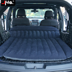 Image 1 - JHO SUV Car Inflatable Mattress Flocking Travel Air Bed With Air Pump Universal Auto Portable Outdoor Camping Moisture proof Pad
