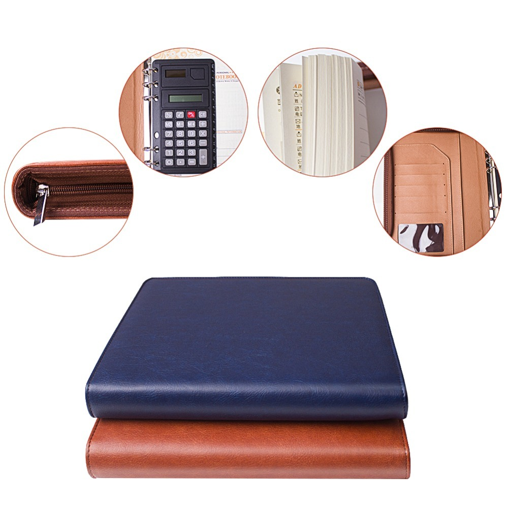 Business Conference Manager Writing Pad Clipboard Notebook Cover Document Case File Office file folder organizer Leather Organiz 1pc padfolio clipboard folder office business clipboard pu leather writing pad a4 file organizer clip magnetic with pen holder