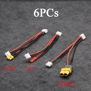 Batería con cabezal equilibrio de 6 uds para cargador ISDT Cable de carga adaptador Cable de carga XT30 JST XT60H para TINY GT7 GT8 2S 380MAH