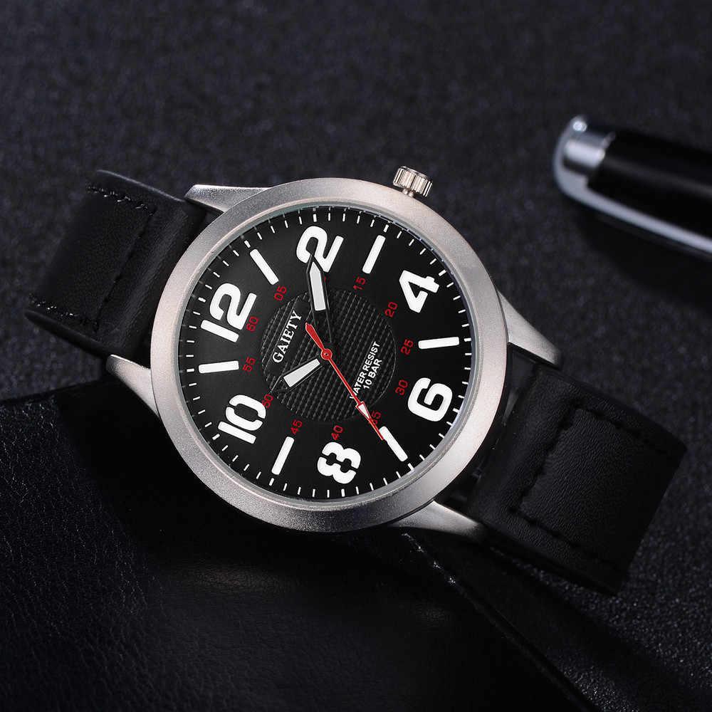 Relojes deportivos para hombre, relojes de pulsera de cuarzo con movimiento de moda informal para hombre, relojes de mesa con correa de cuero