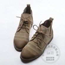 C hukkaหนังนิ่มรองเท้าเดินป่าหนังนิ่มวินเทจรองเท้าผู้หญิงรองเท้าธรรมดารองเท้าช่วยเหลือโบราณน้ำตาลสีทึบ