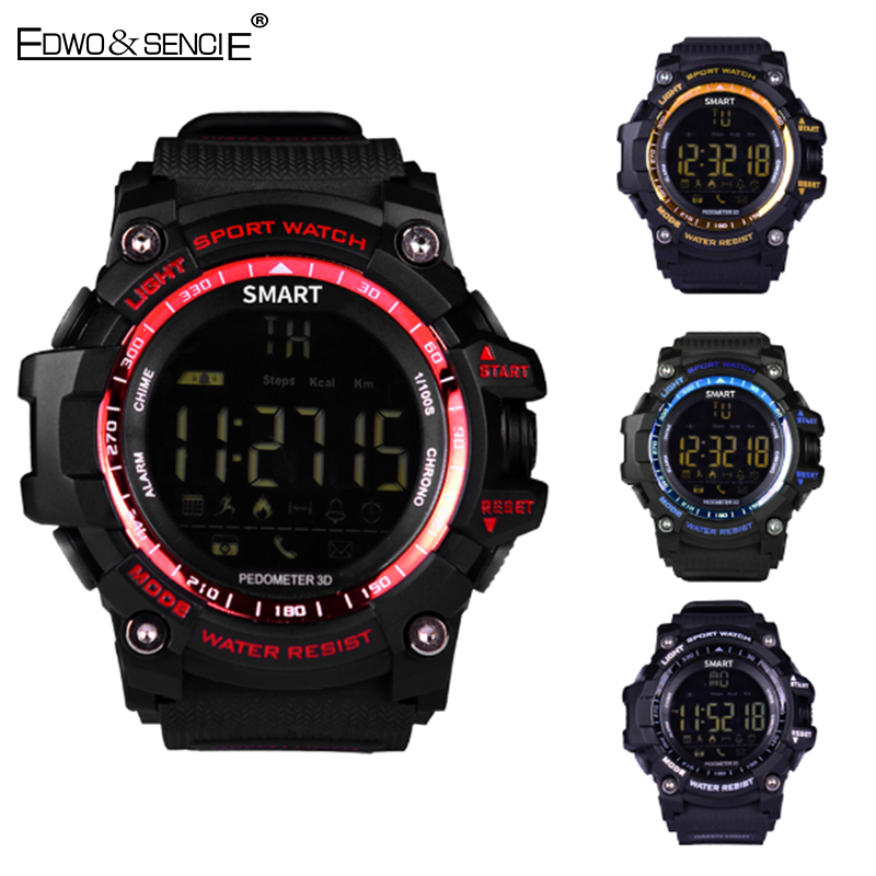 Edwo ex16 impermeable contador de distancia bluetooth smart watch smartwatch pod