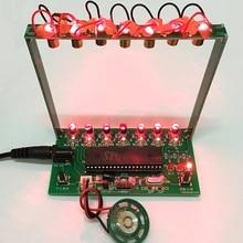 51 SCM laserowa harfa elektroniczne organki fortepian muzyka Puzzle w pudełku technologia DIY zestaw