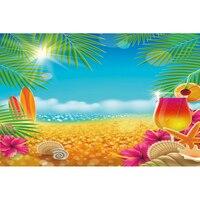 Photography fondos de vinilo árbol Tropical Playa Mar Beach telones de fondo para Estudio fotográfico Telones de Fondo