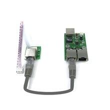 Низкая стоимость сети монтажную коробку преобразования данных расстояние расширение Mini Ethernet 3 Порт 10/100 Мбит/с RJ45 выключатель света модуль