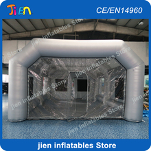 8x5x3m grey inflatable tent booth for car painting / big inflatable car spray booth / cheap durable inflatable spray booth & Popular Cheap Big Tents-Buy Cheap Cheap Big Tents lots from China ...