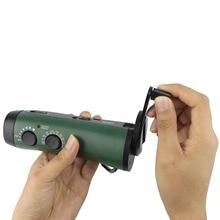 FM AM Radio Hand Crank Radio Emergency Flashlight Portable with FM/AM Portable Siren Radio &Cell Phone Charger Y4180G