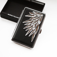 lengthened lady skin colorful feather Rhinestone thin multicolor cigarette cigarette automatic clip girlfriend gift