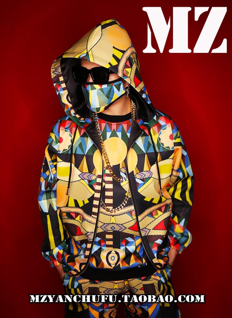 New 3D dicetak pria batu hip-hop DS street dance hoodied klub malam - Pakaian Pria - Foto 3