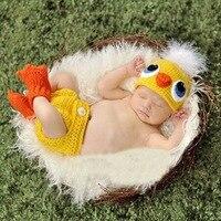 Cute Chicken Handmade Newborn Photography Props Baby Hat Knitted Photo Prop Animal Atrezo Para Fotografia Bebe