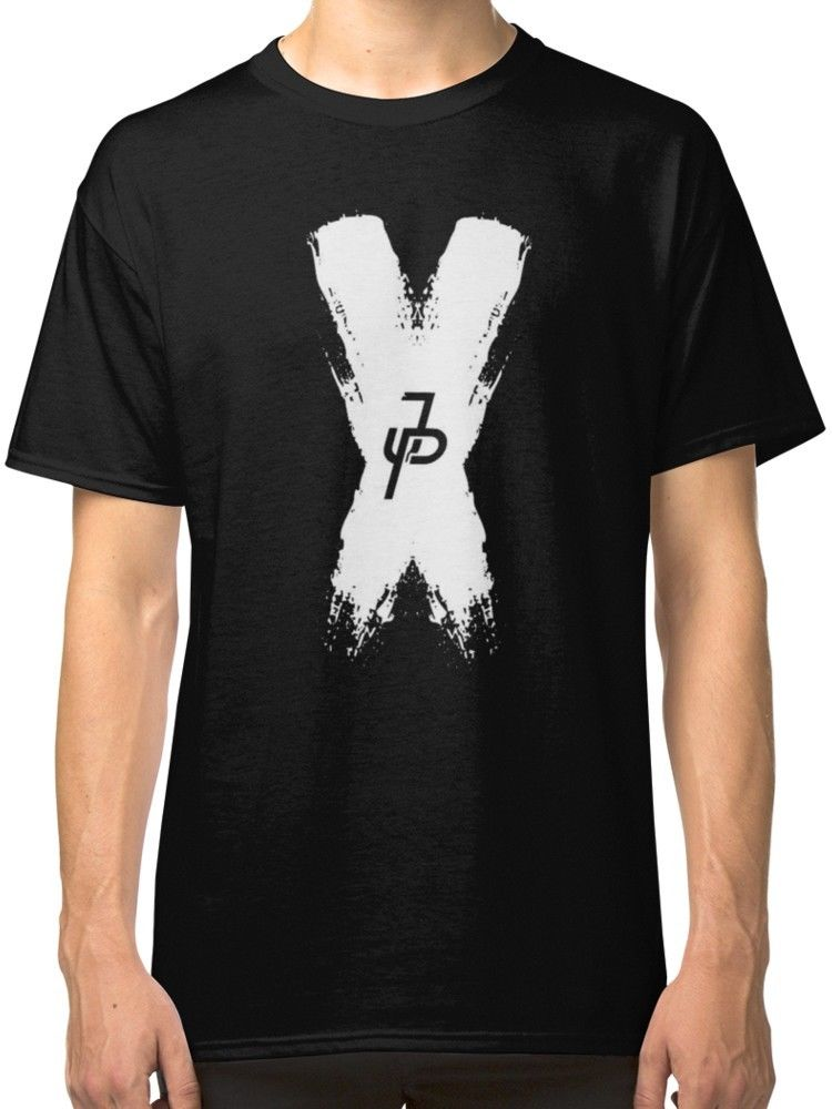 Jake Paul Logo Brush Mens Black Tees Shirt Clothing