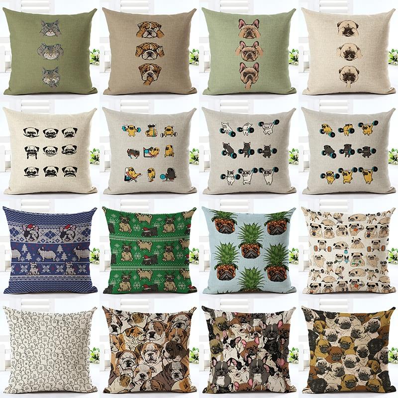ᐅVenta caliente expresión animal impresión algodón Fundas de