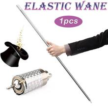 1pcs Length Appearing Cane Silver Cudgel Metal Magic Tricks For Professional Magician Stage Street Close Up Illusion
