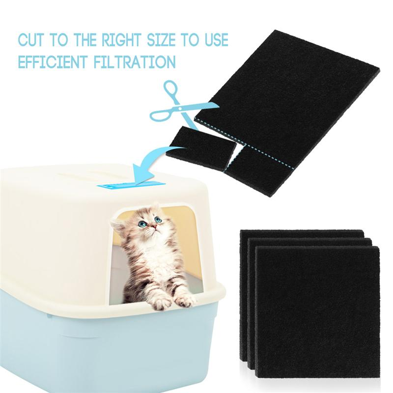 8pcs Carbon Sponge Filters For Cat Litter Boxes Replacement Filters For Cat Litter Boxes Filter Accessories Replacement Cleaner