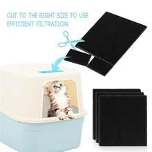 Filtros de esponja de carbono para caja de arena de gatos, reemplazo de filtros para caja de arena de gatos, accesorios de filtro, limpiador de repuesto, 8 Uds.