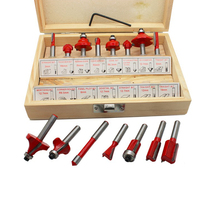 15pcs Professional 1 4 Shank Woodworking Carving Milling Cutter Router Bit Set