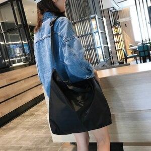 Image 3 - نايلون حقائب النساء الرجال حقيبة تسوق s قابلة لإعادة الاستخدام حقيبة تسوق اللون أسود أزرق