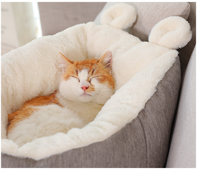 Snuggly Soft Kitten & Puppy Bed  20