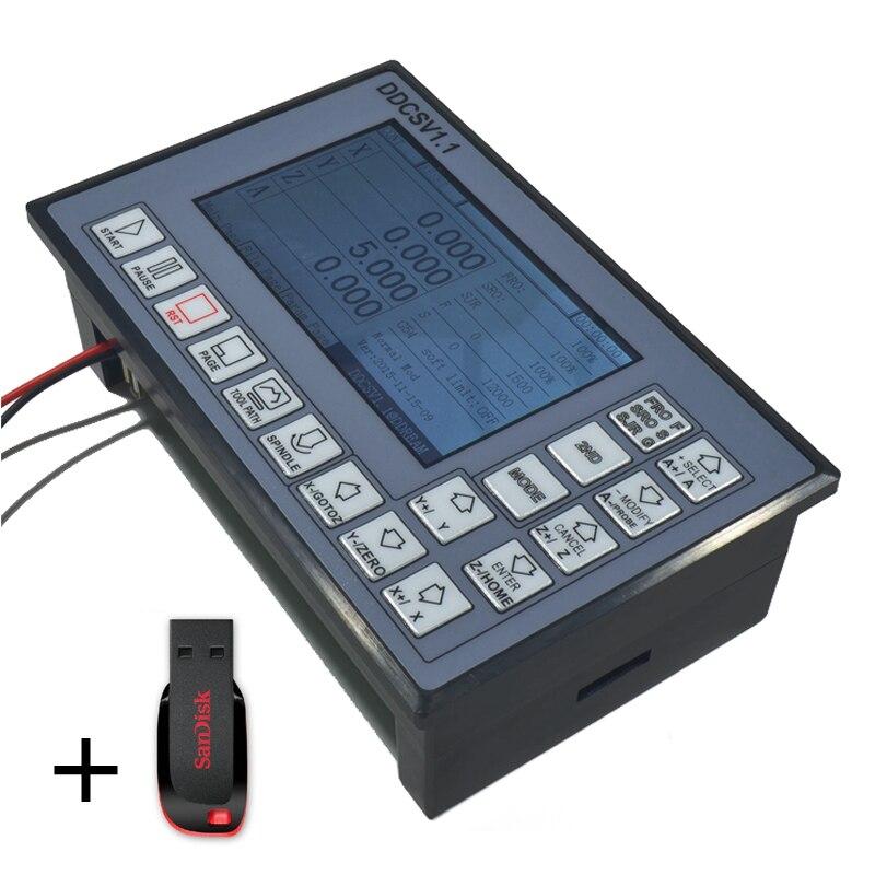 CNC Управление Системы USB 500 кГц 3 оси движения Управление Лер TFT связь G товара ARM9 + FPGA Поддержка USB flash Drive читать @ SD