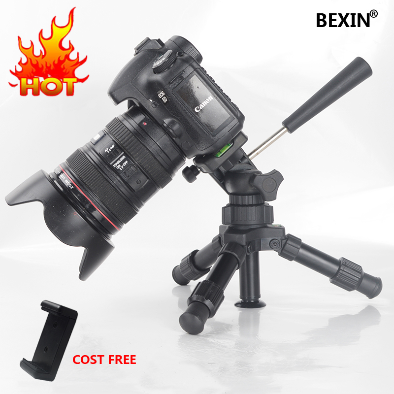 Portable Folding Ultra Aluminum Plastic Lightweight Compact Desktop Macro Mini Tripod with 3-way Tilted pan Head For DSLR Camera