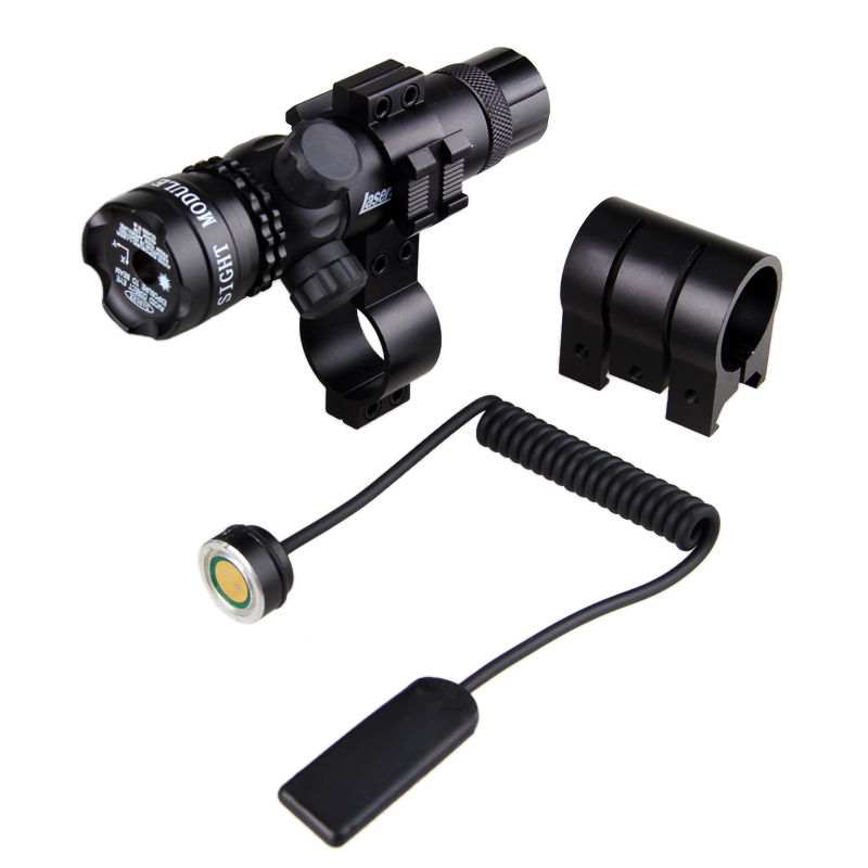 Red Dot Laser Sight Scope Tactical Romote Rifle Scope Sight Pressure Switch Rail Mount Light Gun Rifle Hunting Scope Torch lamp 3 10x42 red laser m9b tactical rifle scope red green mil dot reticle with side mounted red laser guaranteed 100%