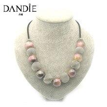 Dandie Hot Sale Handmade Acrylic Bead and Mesh Metal Short J