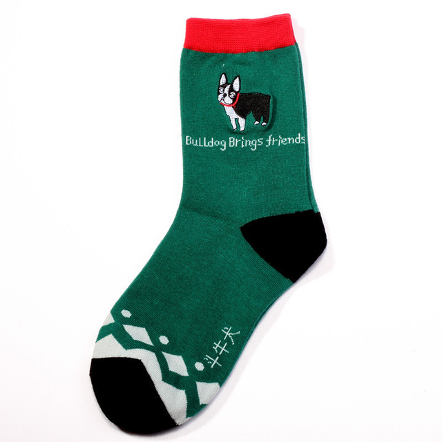 4 Pairs Dogs Print Cotton Socks