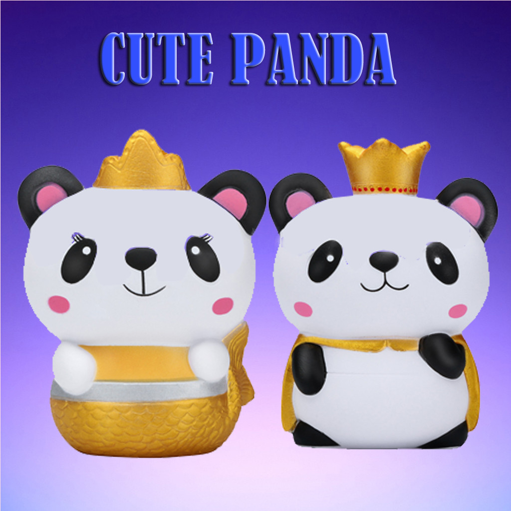 Adorable Squishy Galaxy Panda Scented Slow Rising Squeeze Kawaii Kid Toy Stress Reliever Decor Toys For Kid Easter Gift K0315