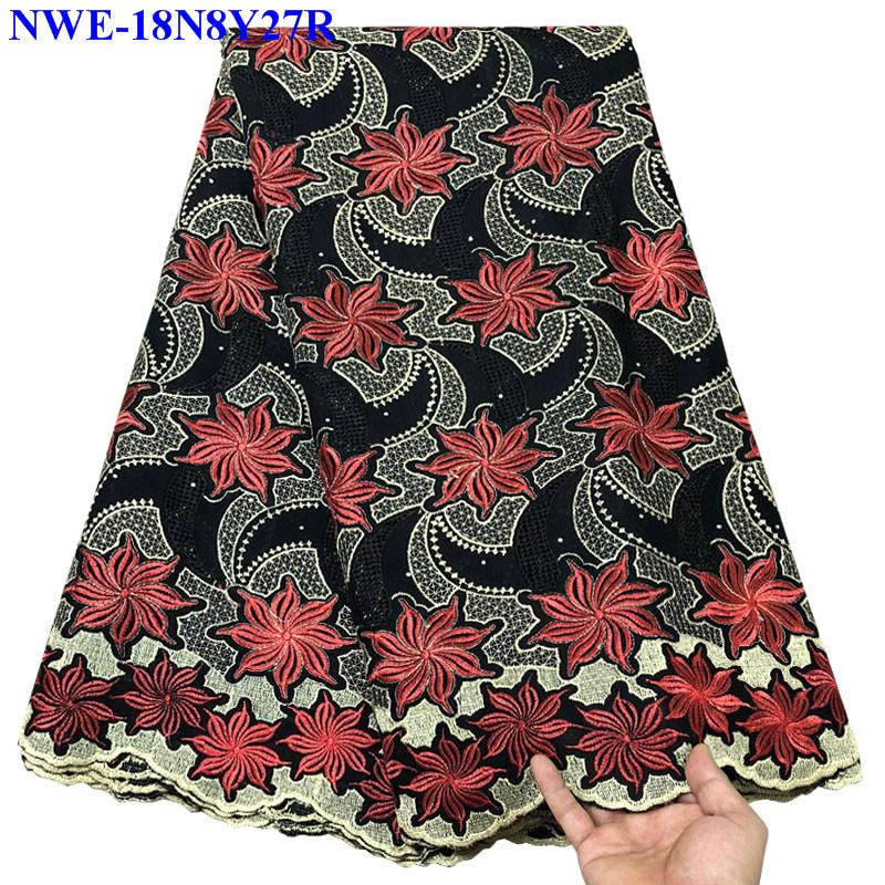 African Guipure Cord Lace Fabirc For Party Dress 2019 Most popular Chemical Lace Fabric for Party