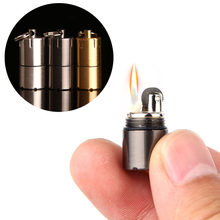Access Mini Compact Kerosene Lighter Key Chain Capsule Gasoline Lighter Inflated Keychain Petrol Lighter Outdoor Tools wholesale
