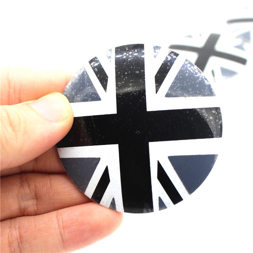 New 4pcs Car Wheel Center Hub Caps Cover Rim England Rice Flag Sticker Badge Styling For Mini Cooper R50 R52 R53 R56 R57 R58 R60