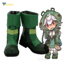 Made in Abyss Prushka Green Shoes Cosplay Boots Custom
