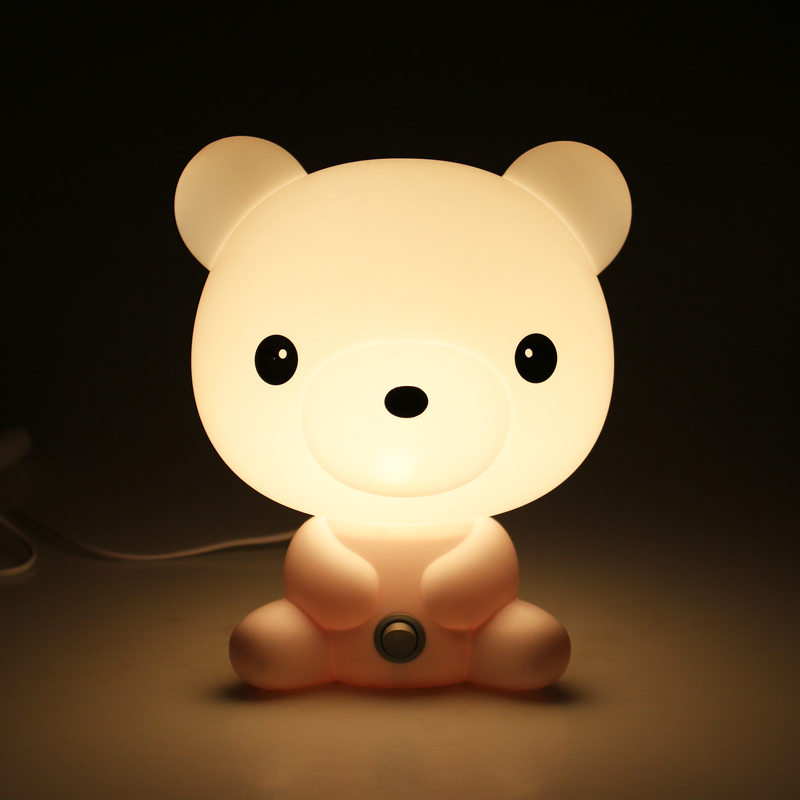 ФОТО Animal Style Night Light Cartoon PVC Plastic LED Night Lamp Sleeping Kids Table Nightlights for Children