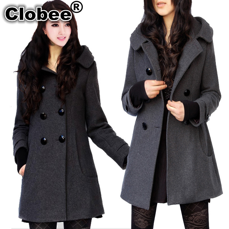 Cheap Plus Size Pea Coats | Fashion Women's Coat 2017