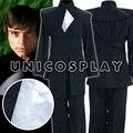 Star wars jedi luke skywalker cosplay traje camisa chaleco negro traje de halloween para los niños adultos por encargo