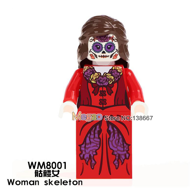 Model Building United Single Sale Woman Skeleton Wm8001 Movie Coco Day Of The Dead Holiday Building Blocks Legoing Education Children Gift Toys Goods Of Every Description Are Available