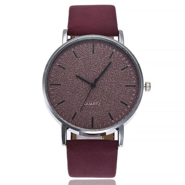 2018 Selling fashion watches Large dial fashion simple ladies watch leather stra