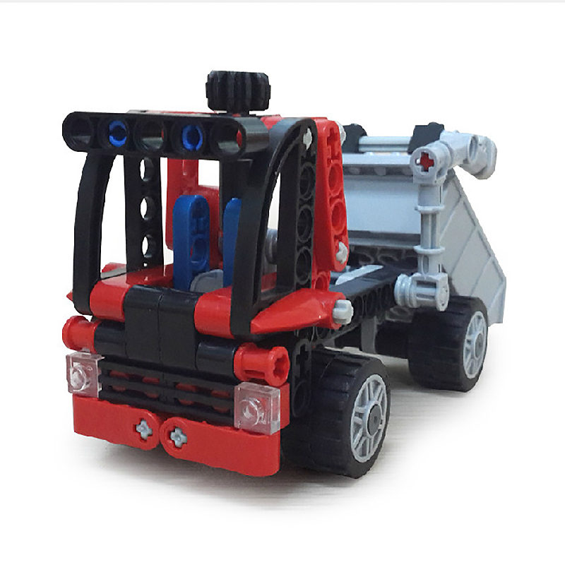 3345 119pcs Technic City Series Mini Container Truck Building Blocks Bricks Model Kids Toys Marvel Compatible city transport dumper container loading truck model toys car 281pcs building blocks bricks compatible all brand with minifig