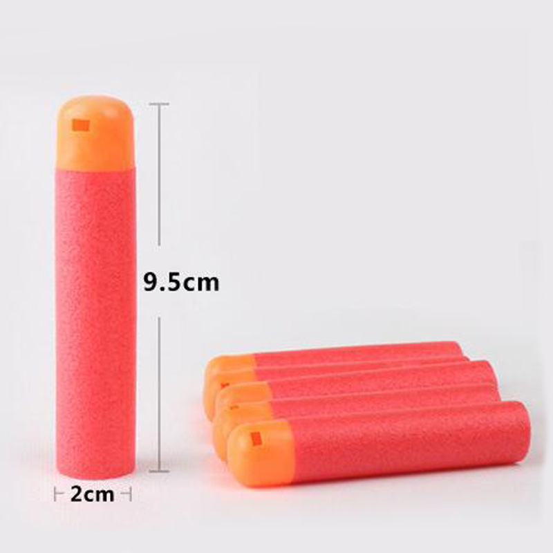 30Pcs/Lot 9.5cm Red Sniper Rifle Darts Bullets For Nerf Mega Kids Toy Foam Refill Darts Big Hole Head Bullets Christmas Gift
