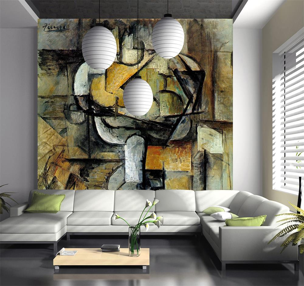 compare prices on famous painting wallpapers online shopping buy 3d room wallpaper custom mural non woven wall sticker famous painting abstract oil painting photo