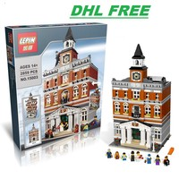 Lepin15003 2859Pcs Creators The Town Hall Model Building Kits Toys Gift Compatible For Children Lepin Technic