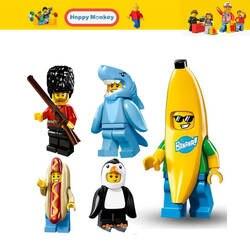 Горячие цифры серии Базз Лайтер банан парень здания Конструкторы леди Liberty пряник человек Совместимость legoingly ребенок игрушечные лошадки